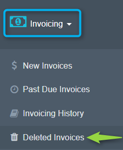 Deleted Invoices